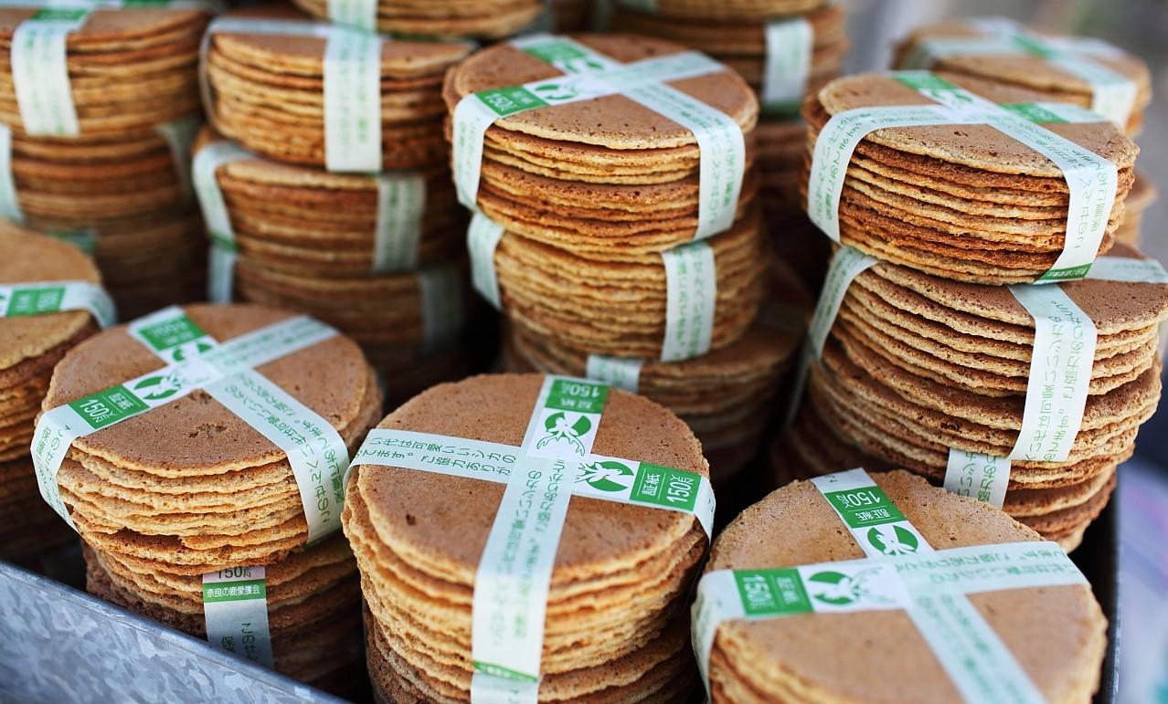Shika senbei, biscuit pour daims